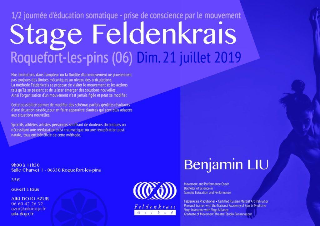 Stage découverte de la méthode Feldenkrais à Roquefort-les-pins avec Ben Liu
