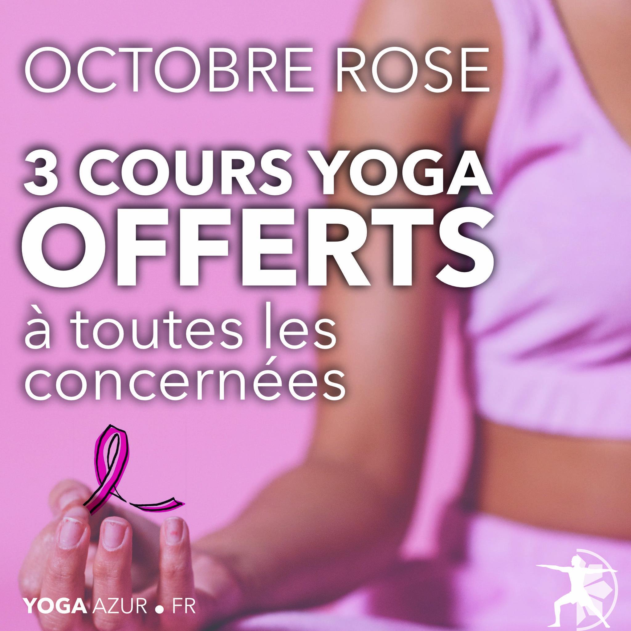 Octobre rose - Yoga - Sport Santé Bien-être