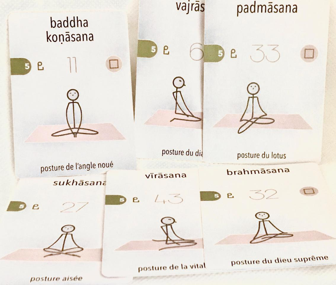 Les principales postures (asana) d'assise